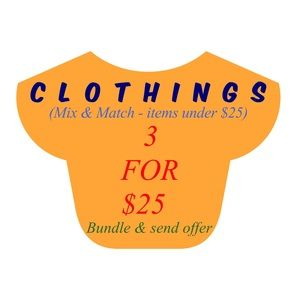 Tops - 3 for $25 - Mix & Match Clothings